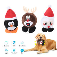 Christmas Pet Dog Chew Toy Squeaker Squeaky Soft Plush Play Sound Dog Toy Xmas (