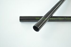 Glossy OD7mm  ID5mm L1000MM 3K Carbon fiber tube/Pipe  Roll Wrapped   (1.0wall)
