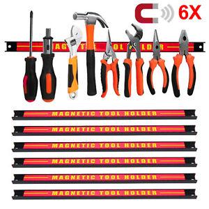 6x Magnetleiste 46cm Magnet Werkzeughalter Werkzeugleiste Halterung DE
