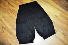 Estilo De Capas Rizado MEGA Ancho Pantalones Bombachos Pretina Black Talla 4
