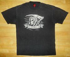 ZERO Skateboards Skateboarding GRIM REAPER SKULL Black Shirt - Adult Large L