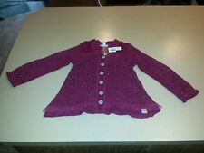 NAARTJIE Size 7 Sparkly Button Cardigan Sweater Cranberry BACK TO SCHOOL NWT!!