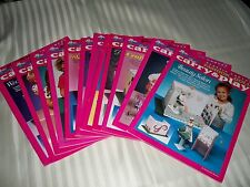 LOT OF 12 CARRY & PLAY FASHION DOLL PLASTIC CANVAS PATTERN BOOK SET ~ UNUSED
