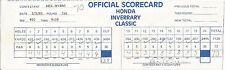Genuine Original Tournament Game used Scorecard signed by Seve Ballesteros