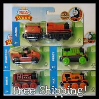 NEW IN PACKAGE Thomas & Friends Wood Train LOT x5 James Nia Rosie Percy Winston