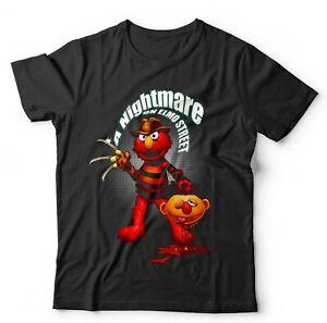 A Nightmare On Elmo Street Tshirt Unisex & Kids - Sesame, Halloween, Horror