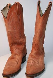 Dan Post County Western Style Boots Men's 7D Made in USA. P2551 Pre-Own