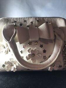 betsy johnson handbag Ivory. With Handles And Strap.Floral