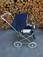 Emmaljunga Baby Stroller foldable & adjustable & quality built Navy & white