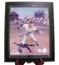 Whitey Ford Autographed Photograph Mounted Memories w/ MLB Hologram N Y Yankees