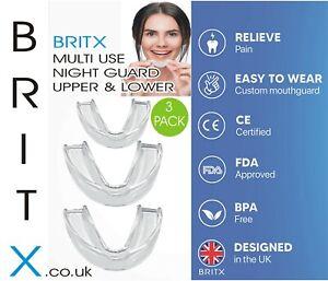 Gum Shield Dental Clear Gel Mouth Guard Night Teeth Grinding - 3pcs/Pack
