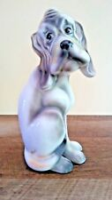 Lefton Bassett Hound Dog Figurine Hand Painted Ceramic Vintage Japan Caricature