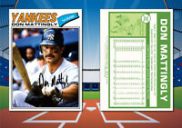 1977 Topps Style DON MATTINGLY Custom Artist Novelty Baseball Card