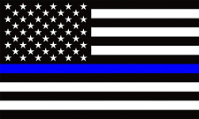 10x Blue Line USA American Flag Vinyl Sticker
