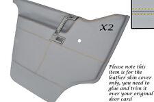 Yellow stitch 2X porte cartes cuir gris couvre pour vw T4 transporter camper
