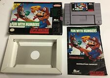 Mario's Early Years Fun With Numbers CIB Complete in Box Super Nintendo Snes