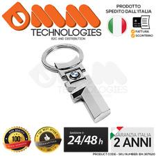 1x PORTACHIAVI BMW CROMATO LUCIDO M SPORT SERIE 1 3 5 7 X1 X3 X5 X6 120 320 118