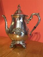 Vintage Silver Plated EPNS Viners Teapot Pot Queen Anne Design
