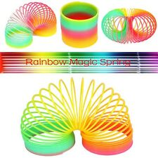 Fashion Colorful Rainbow Plastic Magic Slinky Children Funny Development Toy US
