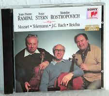 CD Rampal-Stern-Rostropovich giocare Mozart, Telemann, Bach, Reicha