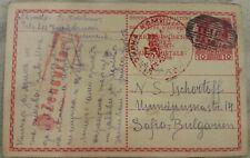 Austria WWI PSC 1916 TELFS stationery, stationary Censor Antwort Answer card