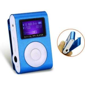 MP3 Music Player With Digital LCD Screen Mini Clip FM Radio Support MicroSD J9L2