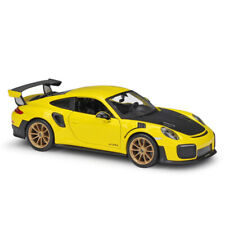 Maisto 1:24 2018 Porsche 911 GT2 RS Racing Yellow Diecast Model Car