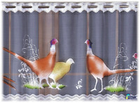 Kitchen Curtain Cafe White  Net Curtain Lace  Drop Sold by the metre