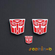 3PCS Metal Transformed Optimus Prime + Trailer Logo Symbol Decal Emblem MPP10