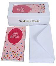 Birthday Money Cards Set 36 Pack New