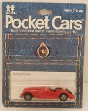 Tomica Pocket Cars #F26 Morgan Plus 8 Roadster Red MOC c.1982 1/57 Scale
