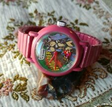VINTAGE 1986 WONDER Woman/girl  AVION OUT OF TIME WIND UP WATCH Comic RARE WORKS