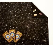 "Lined Black Tarot Cloth or Altar Cloth - Stargazer - 18""x20"" SPClo"