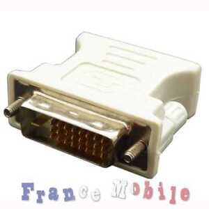Adaptateur Converter Male/ Femelle Dvi-D M a Vga F Dual Link Neuf Convertisseur