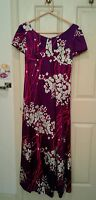 Vintage LORD & TAYLOR Maxi Dress Purple Pink Floral Womans Size 8