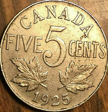 1925 CANADA 5 CENTS COIN - A fine example!