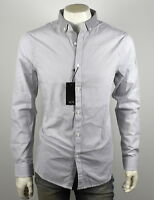 Armani Exchange A|X Mens Jacquard Stripe Button Up Shirt - 3YZC16-ZNW7Z Size XXL