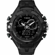 Timex TW5M23300,  DGTL Black Resin Watch, Indiglo, Day/Date, Alarm, Chronograph