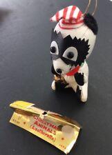 Brite Star Vintage Christmas Ornament Animal Leatherette Japan Bear 7123