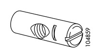 1x Ikea NUT ASSEMBLY SINGLE PARTIALLY THREADED M8 Hemnes Part# 104859