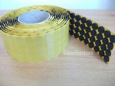 1000 nero autoadesivo appiccicoso CD/DVD/BLU RAY DISC Schiuma titolari/Dots/borchie/Pads
