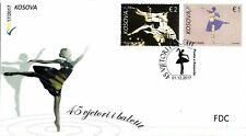 Kosovo Stamps 2017. 45th Anniversary of Ballet. Dance. FDC Set MNH