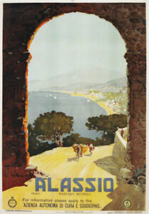 TW20 Vintage 1928 Italy Palermo Sicily Italian Travel Poster Re-print A2/A3