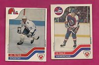 RARE 1983-84 PETER STASTNY SP + DALE HAWERCHUK SP VACHON FOOD CARD (INV# A836)