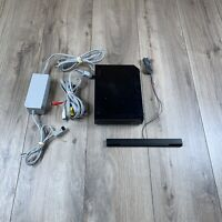 Nintendo Wii Console RVL-101 Black Gaming Console Tested Wii