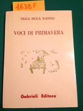Olga DUCA NATOLI  -  VOCI DI PRIMAVERA  -  GABRIELI EDITORE  -  1995