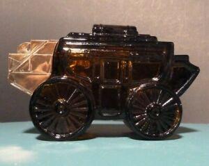 Vintage AVON 1970's Stagecoach - Dark Amber Glass Decanter - Empty & No Box