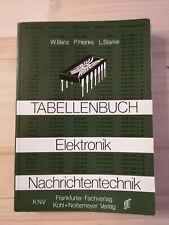 Tabellenbuch Elektronik Nachrichtentechnik ( Benz / Heinks / Starke