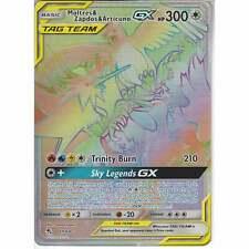 69/68 Moltres Zapdos & Articuno TAG TEAM GX | Rare Rainbow Pokemon Hidden Fates