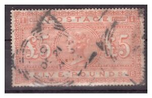 RR! Great Britain: Rare 5 Pounds orange Michel #66 used, CV: 3200 Euro